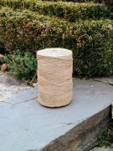 And of course, this project requires rolls and rolls of jute twine.