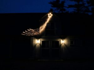 And here's one on my Gym building. Are you busy decorating this weekend? Let me know what your favorite outdoor decorations are in the comments below - I love hearing how others decorate for the holidays.