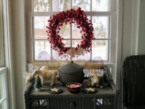 After opening the door, visitors saw decorations on every table and wreaths in every window.
