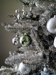 This is a 7.5 foot silver tinseled tree from my collection at The Home Depot. goo.gl/judpnB