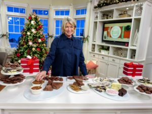 Here I am with all these wonderful sweets - everyone that receives these chocolates will love them. Be sure to go online to the QVC web site to order some of these terrific holiday gifts before they all sell out- they're going fast! goo.gl/qbLSk1