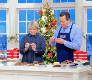 Here I am sharing my chocolates with QVC host, David Venable.