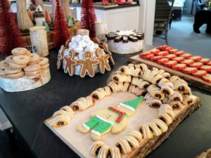Here are more buccellati cookies, sugar cookies and in the back, red-brown butter cardamom shortbread cookies.