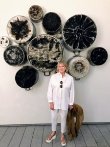 "Did you see this on my Instagram page @MarthaStewart48? I loved this installation showing the beauty in the charred bottoms of large pots and pans. It is called ""Food for Thought — Al Muallaqat,"" by Maha Malluh, an artist working in Saudi Arabia. Blackened by use, these stew pots show the marks of the past and the amazing stories told during mealtimes."