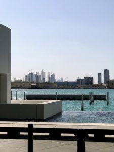 The views outside the museum, and all around Abu Dhabi were so beautiful.
