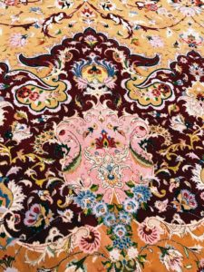 The intricate designs of the carpet are stunning. It took more than two-years to complete.