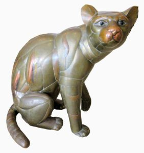 This is a panther, which is 33-inches tall by 31-inches wide and 23-inches deep. This is another great example of how Sergio's pieces look unpolished. (Photo provided by Palm Beach Antique & Design Center)