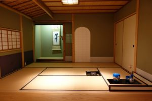This shows a Seishin-an - The Grimes Foundation Tea House. The Seishin-an Tea House is designed to promote harmony, respect, purity, and tranquility.