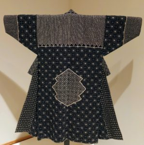 In modest households, garments were often recycled. Precise stitches called sashiko strengthened the pieces and created beautiful designs.