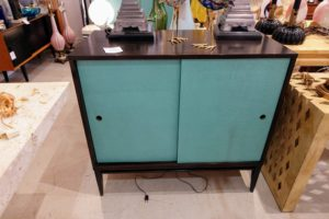 This smaller matching cabinet is 36-inches wide, and nearly 34-inches tall.