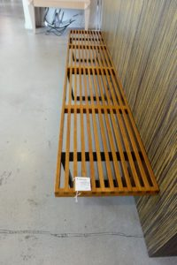 We also stopped into the Palm Beach Antique & Deign Center. I love the straight lines of this vintage George Nelson mid-century modern slat bench from the 1950s. It is very rare because of its long length and one of only three that were made. It is more than eight-feet long. www.palmbeachantique.com