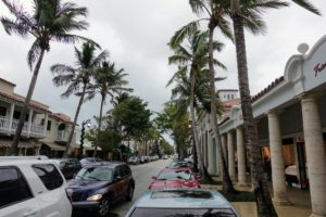 Most of the time, we were under sunny skies in Palm Beach; however, on this day, it was quite cloudy and stormy - the palm trees were swaying from the strong winds.
