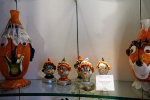 Among the more whimsical pieces, I saw this series of Murano glass clowns designed and made by Alfredo Barbini in Italy around 1950.