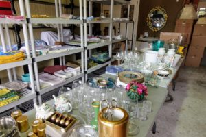 We spent a few minutes at an estate sale nearby - there were lots of vintage glassware pieces to see.