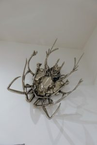 """This is also quite interesting - E.V. Day's """"Pollinator"""" 2011. This insect sculpture is made with chrome polished nickel-plated copper."""
