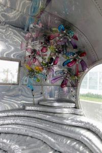 Outside, we saw this transformed trailer made into a children's space - the inside was filled with balloon figures.