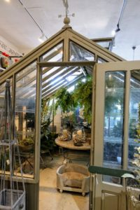 Authentic Provence also has a lovely collection of garden decorations. Some were kept in this charming greenhouse.