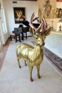 In fact, the Mexican government uses his art work for official gifts to state governors and to other high personalities. Here is the front of the reindeer - it stands about 30-inches tall at the withers.