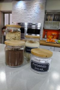I always use air tight jars and containers for my cooking supplies - find out how I keep them organized on the segment.
