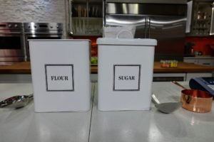 And, I always seek out containers that will fit all the contents of the bags or boxes I buy. These large containers keep the kitchen neat and tidy.