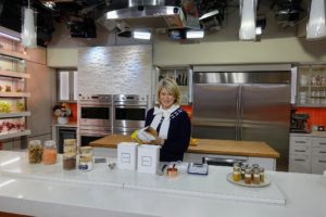 Here I am on the set of the TODAY Show, last week, just before my segment. There's always a lot to talk about during a television segment, so I always run through the details before it starts.