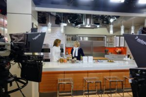 Hoda Kotb and I started at one end of the table and quickly discussed several helpful organizing tips for the kitchen.