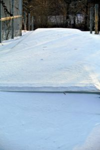 This is actually my cold frame buried under snow outside my main greenhouse.