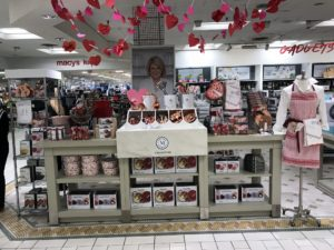 Not far from the book signing was the section containing various pieces from my kitchen and bedding collection. This area is set-up for Valentine's Day with lots of heart themed baking essentials for making your favorite Valentine's treats.