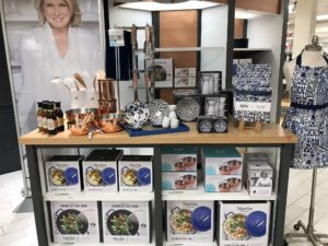 In this area, a display of my enameled cast iron cookware and copper bowls - wonderful gift ideas for any occasion.