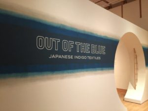"We also viewed the ""Out of the Blue: Japanese Indigo Textiles"" exhibit."