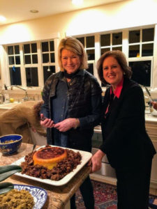 And here I am with my friend, Lisbeth Barron. It was a fun evening and a great way to celebrate the new year ahead.