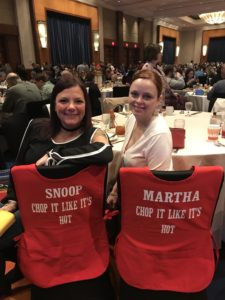 These guests also had fun aprons - made for them by a family member.