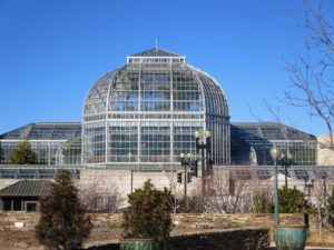 Constructed by the Architect of the Capitol in 1933, this historic Lord & Burnham greenhouse contains two courtyard gardens and 10 garden rooms under glass.