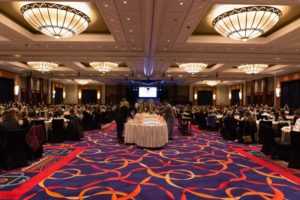 On the morning of our brunch, Mohegan Sun's Uncas Ballroom filled quickly. The space includes 38-thousand square feet of pillarless space, one of the largest hotel ballrooms in the Northeast, with 23-foot ceilings. (Photo by Lucas Acuna/Full Focus Films)