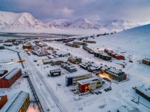 The streets of Longyearbyen do not have names - they simply go by numbers. It is a very small town.