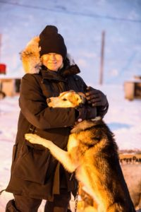 Another common and important mode of transportation in remote Svalbard is dogsledding. We visited some of the huskies at Green Dog Svalbard. They were all very friendly and beautiful and extremely happy to greet all the visitors. (Photo by Michael Poliza)