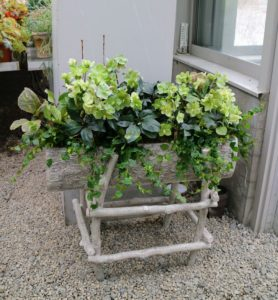 Here is one that I have in my greenhouse at my Bedford, New York farm. This one is planted with hellebores and creeping fig.