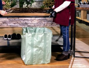 Here is one of my favorite offerings - a set of two Multi-Purpose Heavy Duty Garden Totes - they're reusable and waterproof.