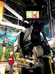 This is a behind the scenes look at one of the cameras on set. There are always multiple cameras shooting our segments, so items can be seen from every angle.