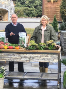 During another part of the day, I appeared with QVC host, Dan Hughes, to talk about my new Martha Stewart All Purpose Fertilizer for Flowers, Shrubs & Vegetables. This fertilizer really gives your garden a boost, and is great with all types of plants.