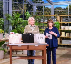 Here I am talking about my Gardening Tote with QVC host, Jill Bauer. All your gardening gear will fit perfectly in this heavy-duty canvas bag. It is so durable and expertly stitched from premium-quality, heavyweight cotton canvas.