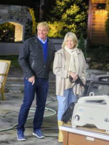 Our day started very early. QVC host, Rick Domeier, hosted the 12am broadcast. Here we are showing the pressure washer - it sold very quickly.