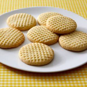 I also made Iranian Rice Cookies. These crumbly rice flour cookies are made using a sugar syrup infused with rose water, a classic ingredient in Middle Eastern sweets. Watch the video to see how I made the decorative grid pattern top of the cookie. (Photo by Mike Krautter)