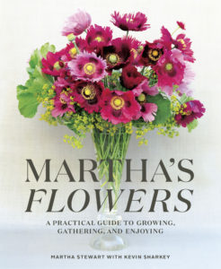 """This is the cover of my newest and 90th book – """"Martha's Flowers, A Practical Guide to Growing, Gathering, and Enjoying"""" – I am so excited for you all to have it. Remember, tune in to QVC on February 5th starting at 4pm ET. And, follow me on my social channels – Twitter @MarthaStewart, Instagram @MarthaStewart48 and right here on my blog, http://www.themarthablog.com, for details on all my upcoming QVC appearances."""