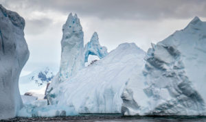 This is Pleneau Bay. Pleneau Bay is home to a collection of icebergs in an area known as Iceberg Graveyard.