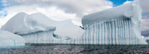 Iceberg Graveyard is where frozen structures of all shapes and sizes have drifted from other locations.