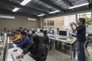Here is the lab during class - filled with students. At Chavón, students are encouraged to develop their critical thinking, and gain skills needed to make creative decisions and to solve challenging design issues. (Photo provided by Chavon: The School of Design)