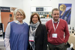 Here I am with Russell Burgess and Laura Gordon of Vicente Gandia - makers of El Miracle, which is also part of my wine collection.