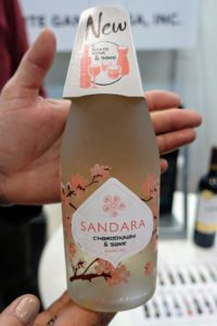 Here is something new - Sandara Chardonnay and Sake.