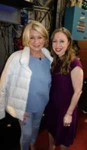 And you must know who this is. I was on the show the same night as Chelsea Clinton. It was very nice to see her - we had a great time talking back stage.